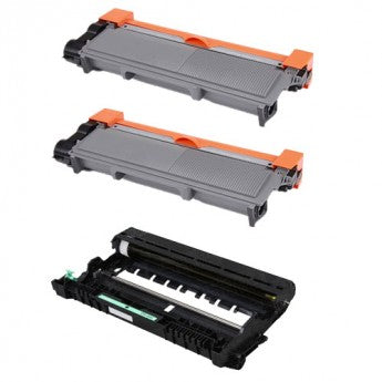 Special Pack of Brother 2-TN660 Toner High Yield Black & Drum Unit DR630 (Compatible Cartridge)