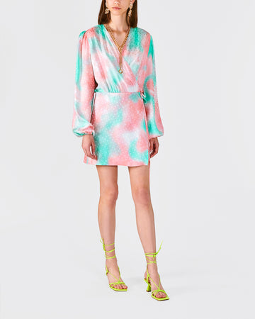 Pink flambè & Lime punch Mini Dress