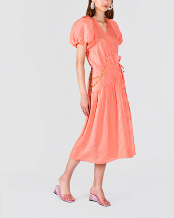 Sun kissed Coral Midi Dress - Atelier