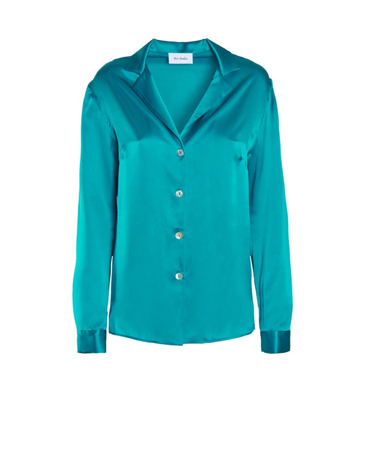Lauren Shirt - Peacock green