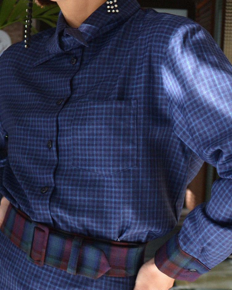 Archive Wool Shirt 05/12 - Blue Check