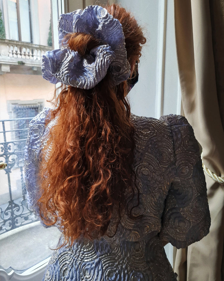 Hair XXL Scrunchie - Lilac & Silver