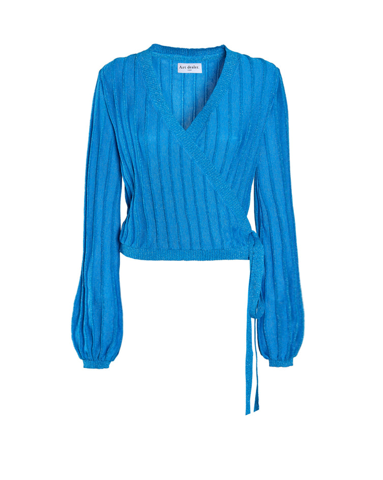 """The More Knits, the Merrier"" cardigan - Turquoise"