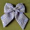 Load image into Gallery viewer, Hair Bow - Lilac & Silver