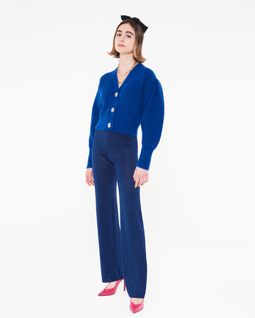 Betty knitwear pants - Electric blue
