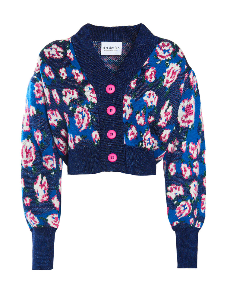 Betty Knit Cardigan - Flower print