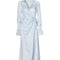 Load image into Gallery viewer, Cordelia dress with flared sleeves - light blue