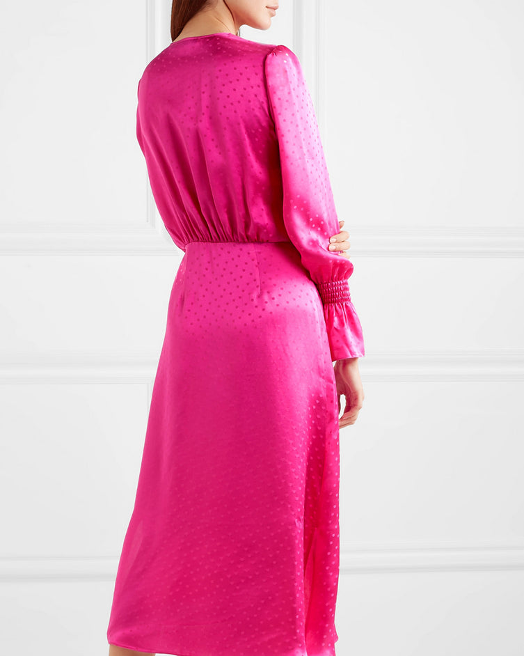 🍬 Diane dress with flared sleeves fuchsia 🍬