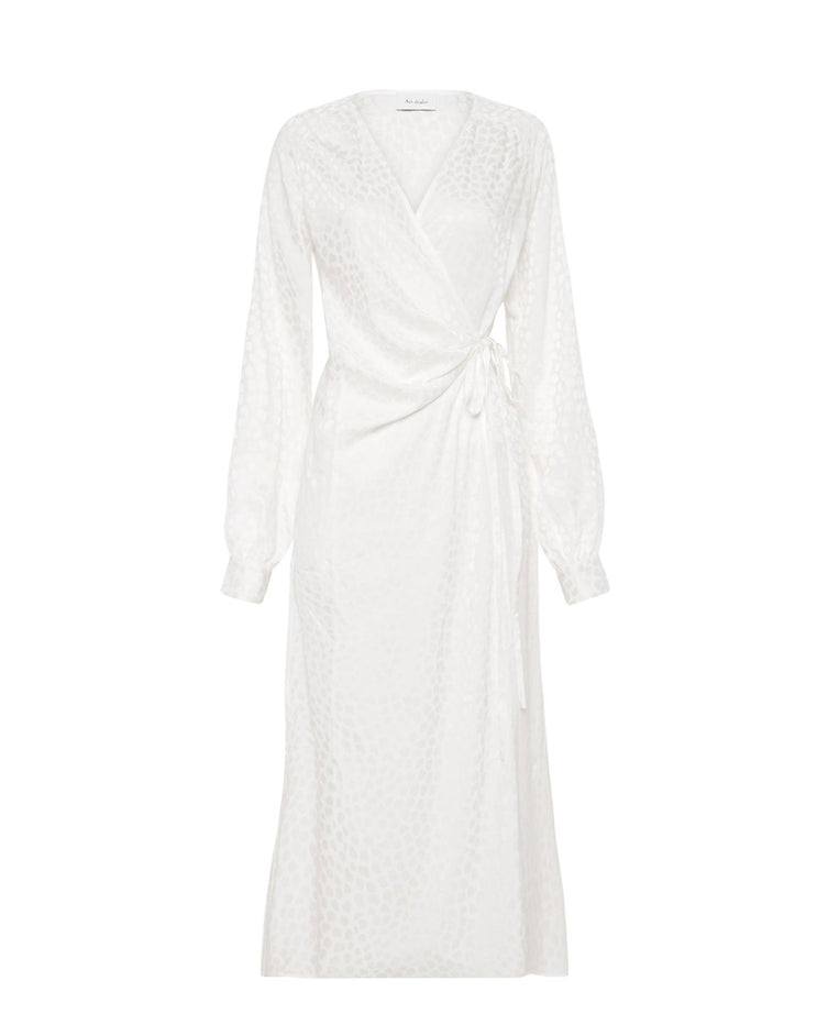🕊 Michelle Wrap Dress - White 🕊