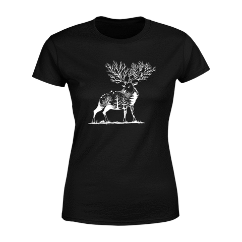 Forest Deer - Ladies Crew Neck