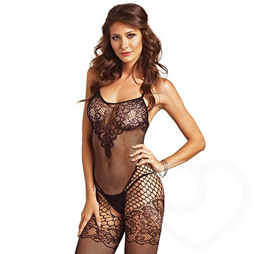 Seamless Dual Net Bodystocking w/ Lace Bodice - Feelmore Adult Gallery