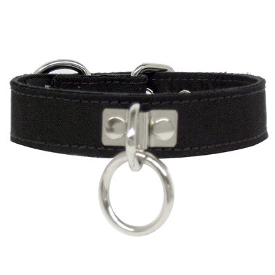 "3895 Black Canvas Collar 1"" M/L - Feelmore Adult Gallery"