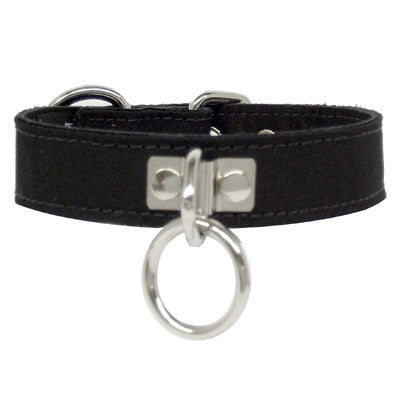"3895 Black Canvas Collar 1"" S/M - Feelmore Adult Gallery"