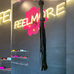 Feelmore Black Faux Flogger