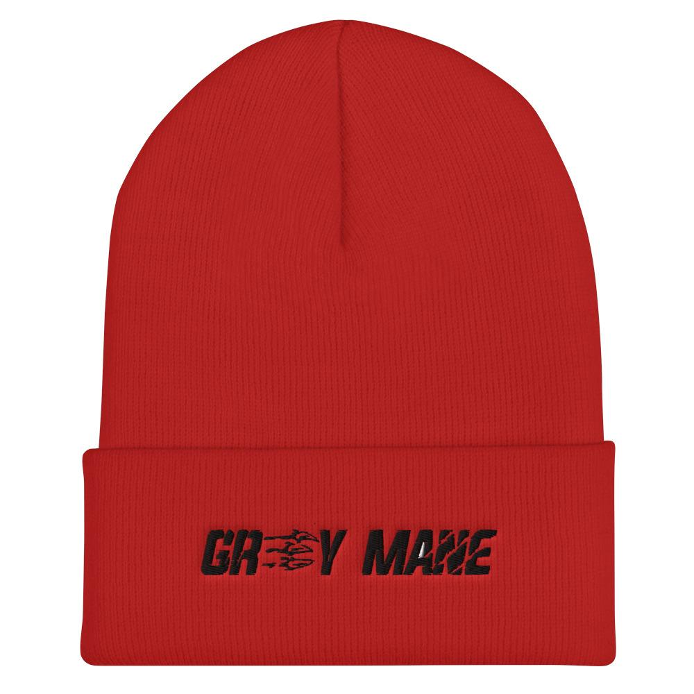 Grey Mane Cuffed Beanie Geeks Unleashed