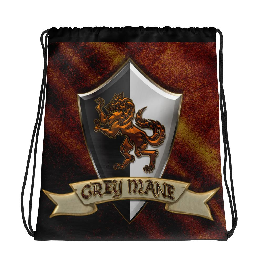 Grey Mane Drawstring bag Geeks Unleashed