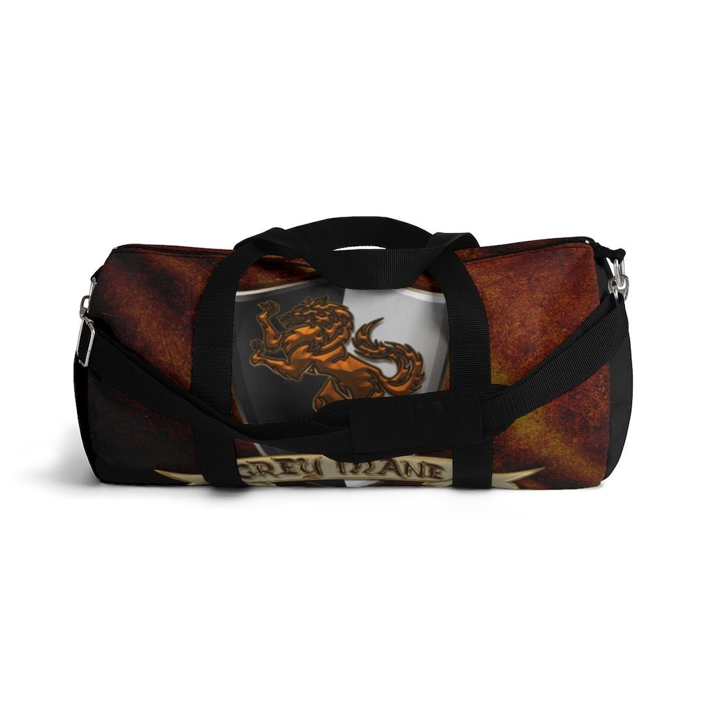 Grey Mane Duffel Bag Printify