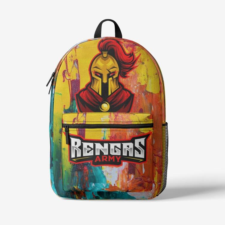 Rengas Army Retro Trendy Backpack Printy6
