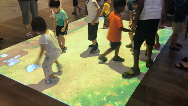 Waterway Point Interactive Floor Projection Experiential Installation | Waterway Point Interactive Floor Projection Experiential Installation