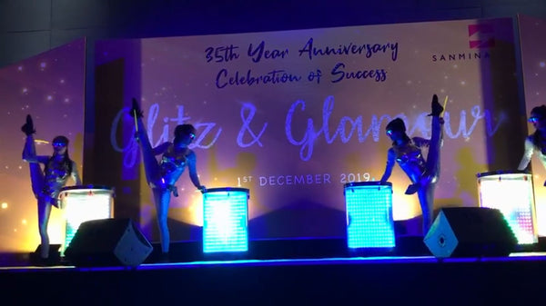 Sanmina 35th Anniversary Dinner LED Drum Performance
