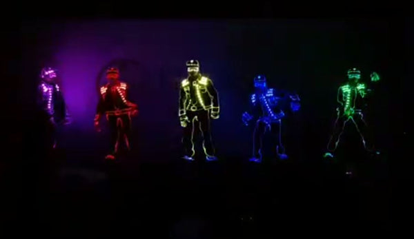 Multi Colour LED Tron Dance | Multi Colour LED Tron Dance
