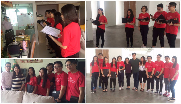 experiential marketing singapore | Acappella Carolling for SingTel Marketing Campaign