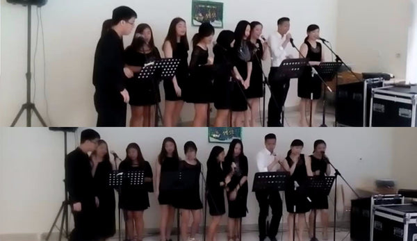 Christmas Carolling @ Lonza's Office | Christmas Carolling @ Lonza's Office