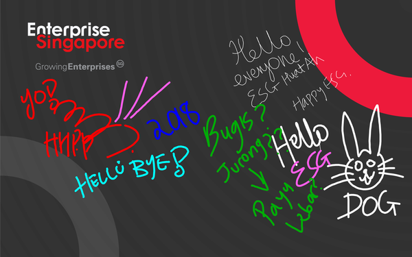 Enterprise Singapore Interactive Digital Signature Doodle Wall @ Savor World