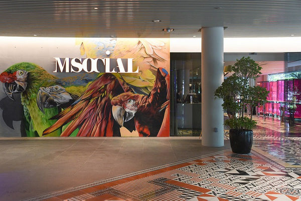 Moving Head Effects Gobo Lighting Installation for Msocial Lobby Ambience