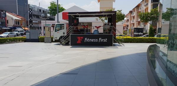 Roving Mobile Truck for Fitness First Paya Lebar Opening @ 3 locations
