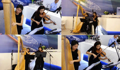 Harp & Violin Duo @ Singapore Expo for ABS Launch Event