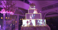 Wedding Private Event Singapore Cake Mapping Projection @ Fullerton Bay Hotel