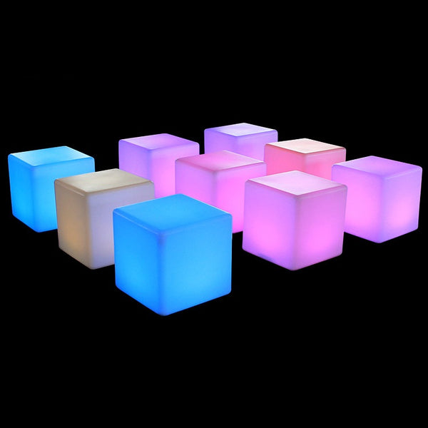 LED Multi Color Cube Chair | LED Multi Color Cube Chair