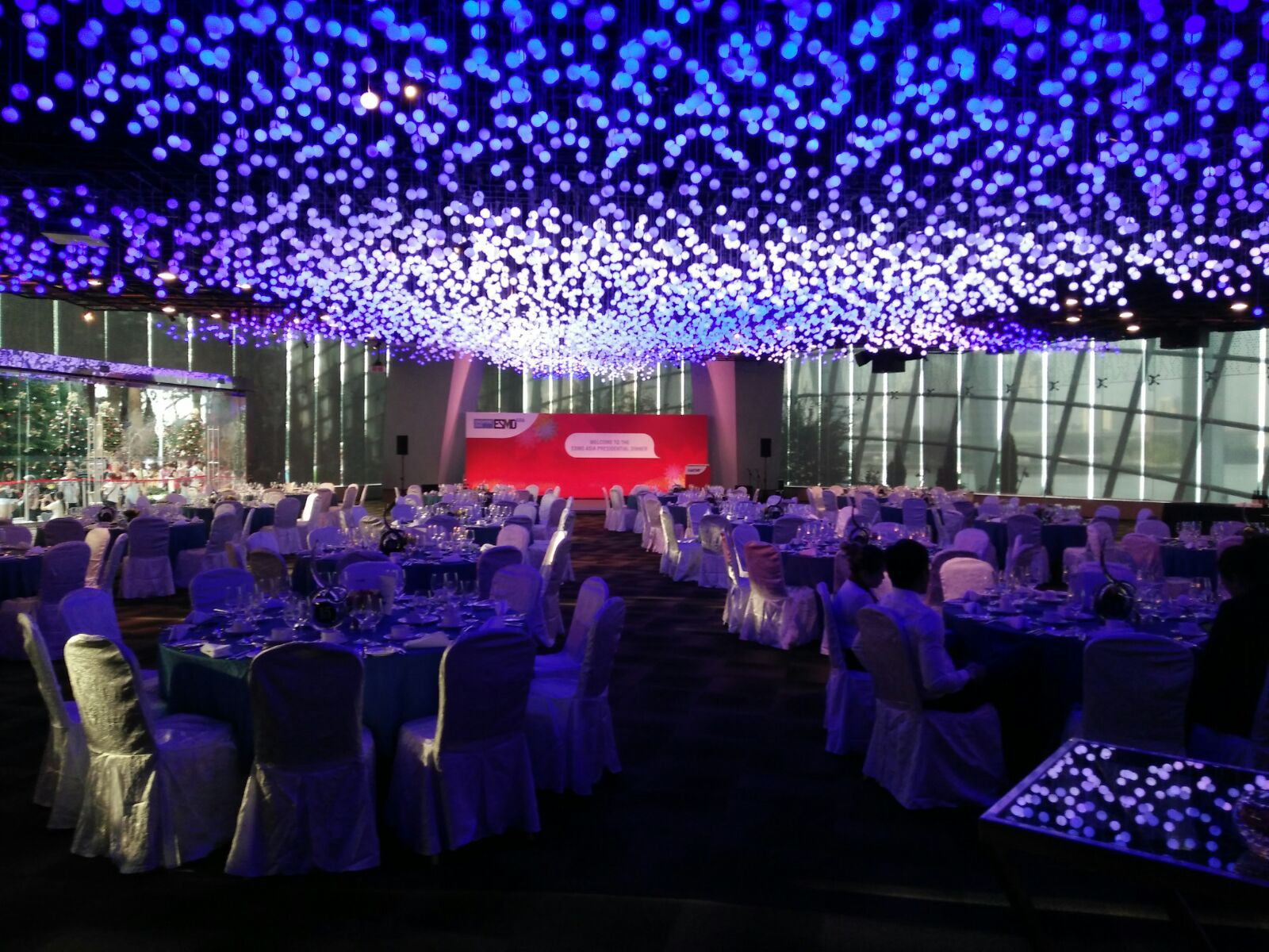 esmo gala dinner event gardens by the bay flower field hall
