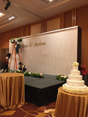Lester & Stephanie Wedding Backdrop