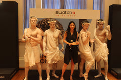 Interactive Human Statues @ Swatch Skin Irony Launch