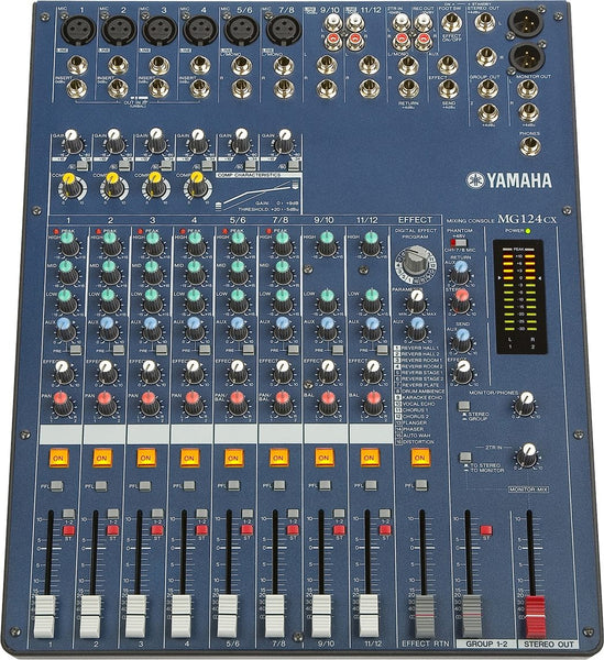 Yamaha MG124CX 12-Input Stereo Mixer with Compression and Effects | Yamaha MG124CX 12-Input Stereo Mixer with Compression and Effects
