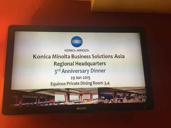 Konica Minolta Dinner @ Swissotel Equinox private dining