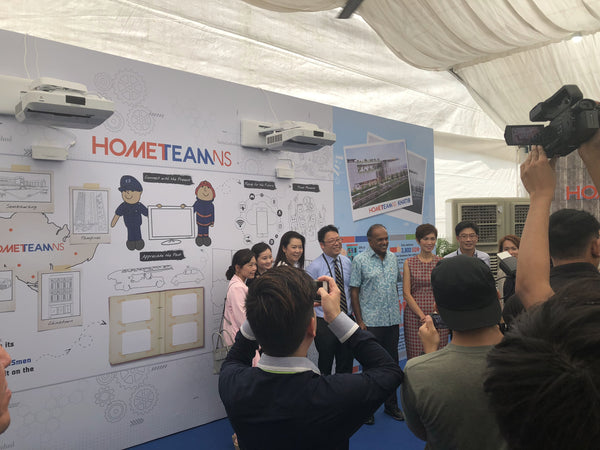 Interactive Projection Wall @ Groundbreaking Ceremony of HomeTeamNS Khatib Clubhouse