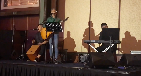 3 piece acoustic band @ Hoi Hup CNY Dinner 2018