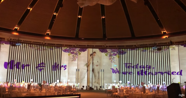 Wedding Projection Mapping 3D @ Edward and Ting Ping Wedding