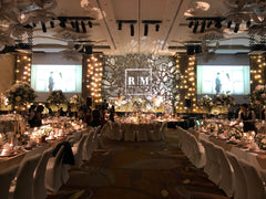 Wedding Private Event Singapore Artistic Gobo Projection for Wedding @ W Hotel