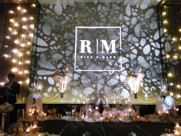 Artistic Gobo Projection for Wedding @ W Hotel