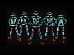 Dynamic Technicolor LED / Tron Dancers Color changing with Laser
