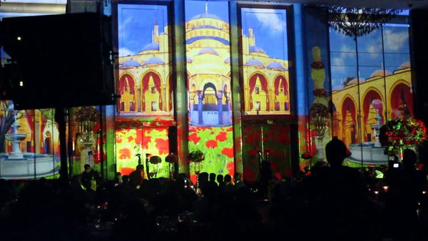 3d projection mapping Singapore | 3D Projection Mapping March-In @ Shangri La