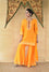Bandhani on Chanderi Palazzo Suit Set - Yellow