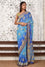 Blue Banarasi Bandhani Saree with Hand Embroidered Border
