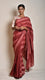 Maroon Abstract Nui Shibori Saree