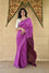 Purple Shaded Bandhani on Tussar Silk Saree