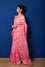 Shaded Organza Zari Border Saree - Pink